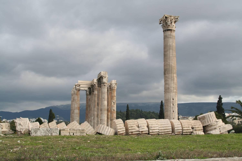 Αριστοτέλης Βαλαωρίτης: Πρὸς τὴν ὑπὸ λαίλαπος δεινῆς  κρημνισθεῖσαν στήλην τοῦ Ὀλυμπίου Διός